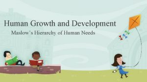 Human Growth and Development Maslows Hierarchy of Human