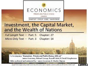 GWARTNEY STROUP SOBEL MACPHERSON Investment the Capital Market