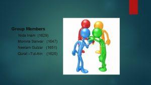 Group Members Nida Inam 1629 Momna Sarwar 1647