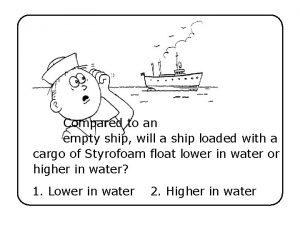 Compared to an empty ship will a ship