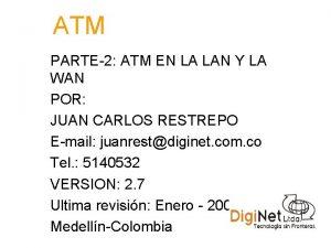 ATM PARTE2 ATM EN LA LAN Y LA