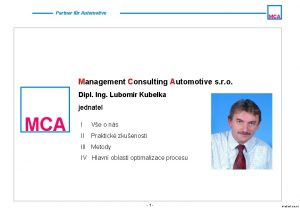 Partner fr Automotive MCA Management Consulting Automotive s