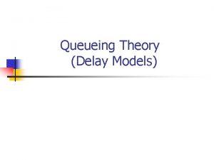 Queueing Theory Delay Models MM1 queueing system n