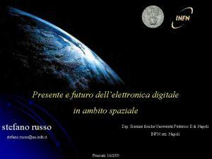 Presente e futuro dellelettronica digitale in ambito spaziale