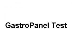 Gastro Panel Test Gastro Panel Test Nedir Salkl