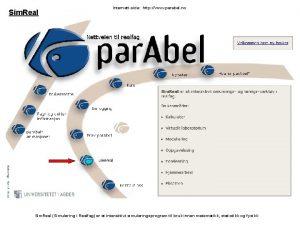 Sim Real Internettside http www parabel no Sim