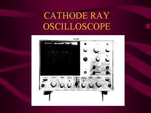 CATHODE RAY OSCILLOSCOPE Functional Units a Electron Gun