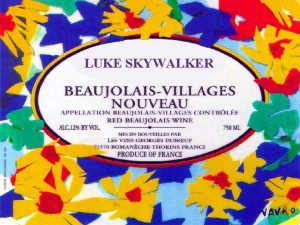 LUKE SKYWALKER Beaujolais is written with an S
