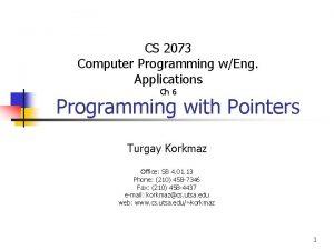 CS 2073 Computer Programming wEng Applications Ch 6