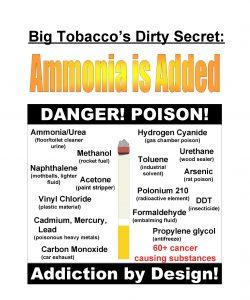 Big Tobaccos Dirty Secret DANGER POISON AmmoniaUrea Hydrogen