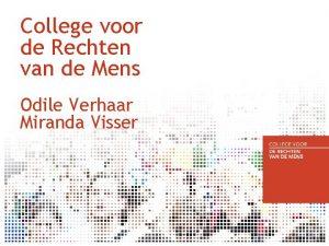 College voor de Rechten van de Mens Odile