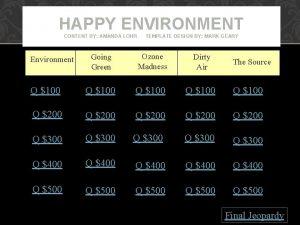 HAPPY ENVIRONMENT CONTENT BY AMANDA LOHR TEMPLATE DESIGN