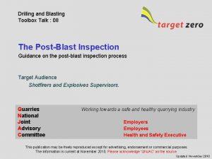 Drilling and Blasting Toolbox Talk 08 The PostBlast