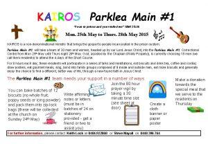KAIROS Parklea Main 1 I was in prison