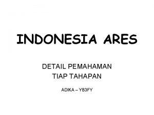 INDONESIA ARES DETAIL PEMAHAMAN TIAP TAHAPAN ADIKA YB
