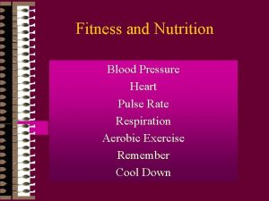 Fitness and Nutrition Blood Pressure Heart Pulse Rate