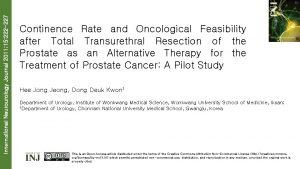 International Neurourology Journal 2011 15 222 227 Continence