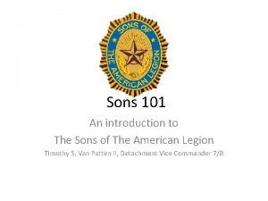 Sons 101 An introduction to The Sons of