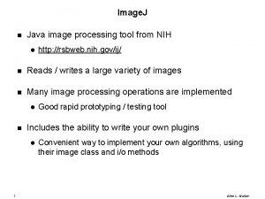 Image J Java image processing tool from NIH