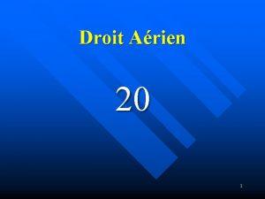 Droit Arien 20 1 Classes despace Rfrence Annexe