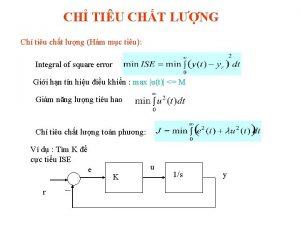 CH TIU CHT LNG Ch tiu cht lng