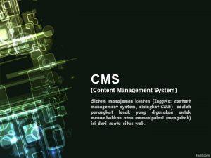 CMS Content Management System Sistem manajemen konten Inggris