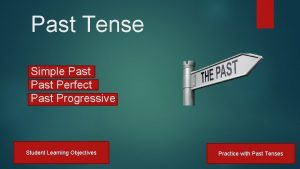 Past Tense Simple Past Perfect Past Progressive Student