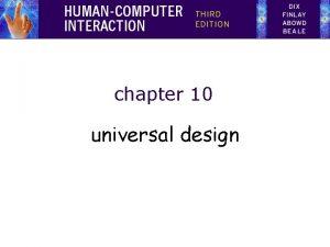 chapter 10 universal design universal design overview Designing