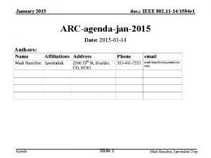 January 2015 doc IEEE 802 11 141584 r