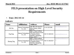 March 2012 doc IEEE 802 11 12278 r