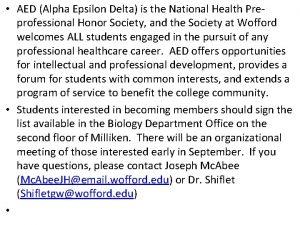 AED Alpha Epsilon Delta is the National Health