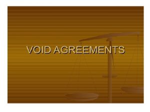 Uncertain agreement An agreement the meaning of which