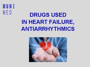 DRUGS USED IN HEART FAILURE ANTIARRHYTHMICS Heart Failure