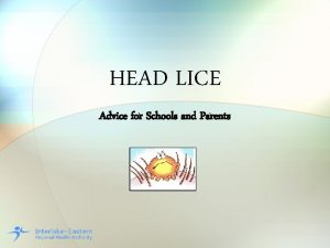 HEAD LICE Advice for Schools and Parents What