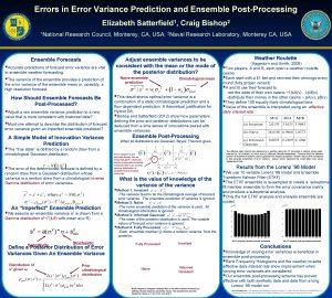 Errors in Error Variance Prediction and Ensemble PostProcessing