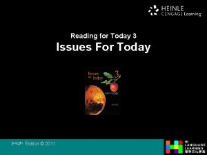 Reading for Today 3 Issues For Today 3