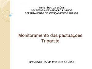 MINISTRIO DA SADE SECRETARIA DE ATENO SADE DEPARTAMENTO