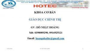 KHOA C BN GIO DC CHNH TR GV
