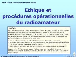 Manuel Ethique et procdures oprationnelles UBA Ethique et