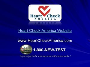 Heart Check America Website www Heart Check America