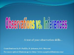 A test of your observation skills Contributions by
