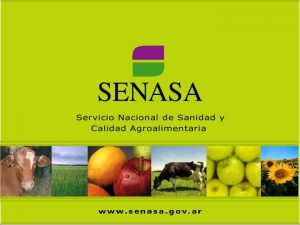 REGISTRO NACIONAL SANITARIO DE PRODUCTORES AGROPECUARIOS MARCO NORMATIVO