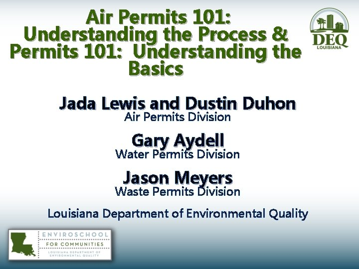 Air Permits 101 Understanding the Process Permits 101