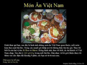 Mn n Vit Nam Knh tha qu bn
