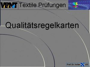 Textile Prfungen Qualittsregelkarten Prof Dr Voller HN Textile