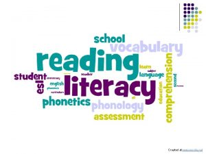 Created at www wordle net Literacy Instruction Techniques