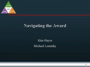 Navigating the Award Kim Hayes Michael Lenetsky 1