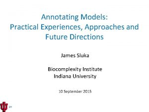 Annotating Models Practical Experiences Approaches and Future Directions