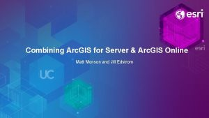 Combining Arc GIS for Server Arc GIS Online
