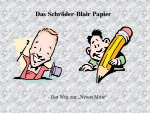Das SchrderBlair Papier Der Weg zur Neuen Mitte